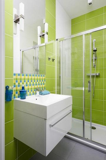Baños Color Verde Limon:10 Refrescantes Baños en Color Verde Limón – Colores en casa