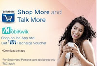 Shop on Amazon App and Get Rs.101 Recharge voucher,Additional discount on Beauty, Personal care and more