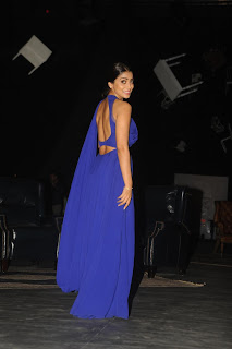Shriya Saran Stunning in Backless blue Gown on the ramp for Manish Malhotra at LFW Winter 2015