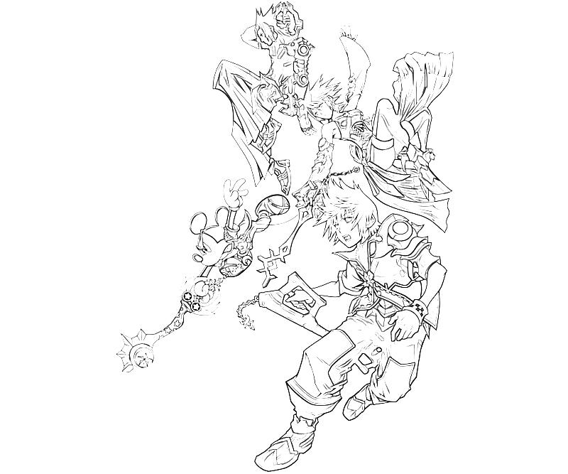 10 roxas kingdom hearts characters yumiko fujiwara for Kingdom hearts printable coloring pages