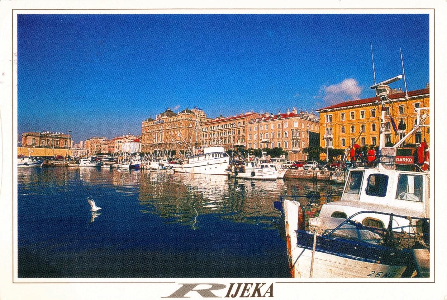 postcard, croatia, fiume