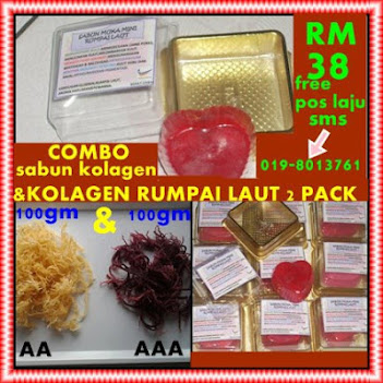PACK COMBO SABUN KOLAGEN  MINI DAN 2 PACK RUMPAI LAUT