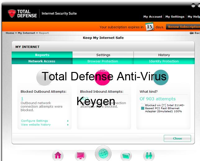 Total Defense Antivirus 2015 License Key Keygen Portable Download
