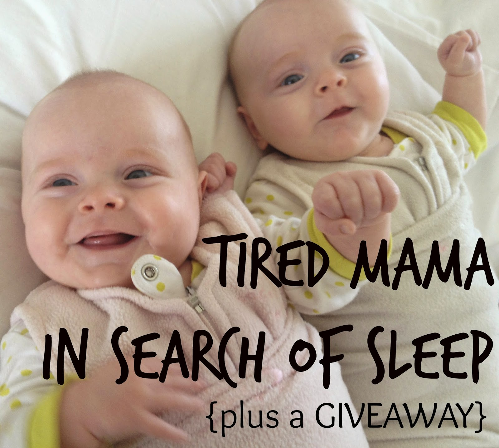 tired mama sleep training baby twins