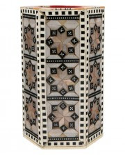 Egyptian Mother of Pearl Pen Holder - Cultural Elements