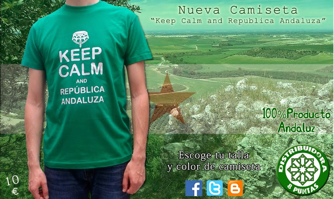 "camisetas ""keep calm and República Andaluza"""