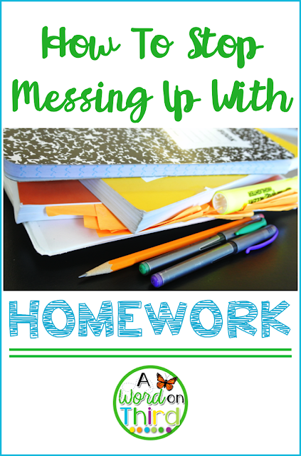 A Word On Third - How To Stop Messing Up With Homework