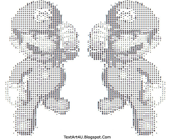 Mario And Luigi Text Art Cool Ascii Text Art 4 U