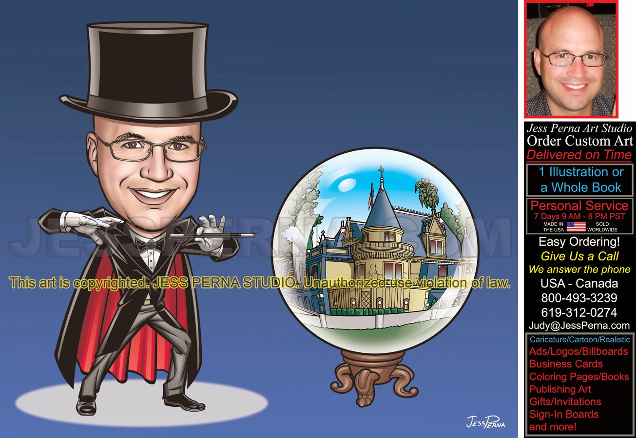 magician with crystal ball 40th birthday gift poster birthday
