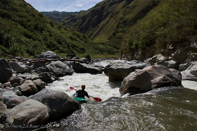 Jared Page heading towards the gorge, Chris Baer, colombia, junambu