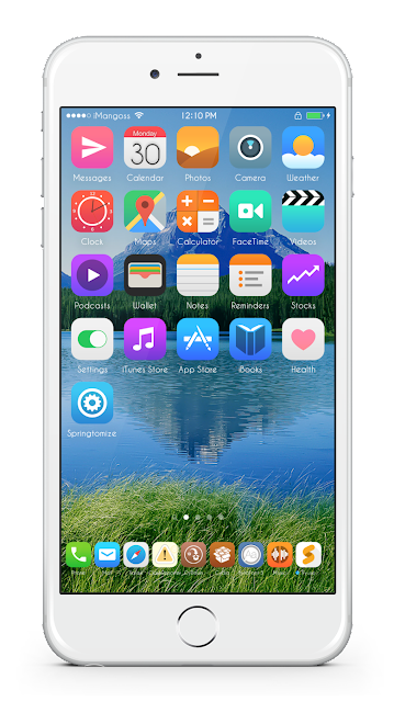 We have listed 'Horizon iOS 9' in today's theme of the day. This theme gives the feel of using the iOS springboard in a new way. It includes huge sets of icons