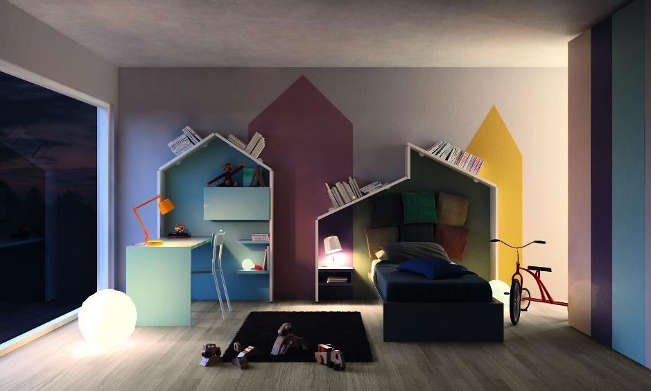 Ta ta unconventional design for kids lago presenta la for Camerette ragazzi lago