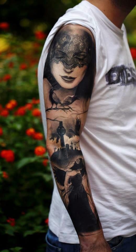 Mens Sleeve Tattoo
