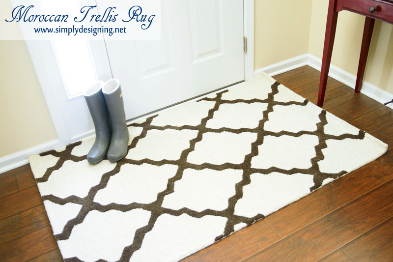 Moroccan Trellis Rug With Gray Boots New For My Front Entrance