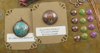 detail of etched copper components