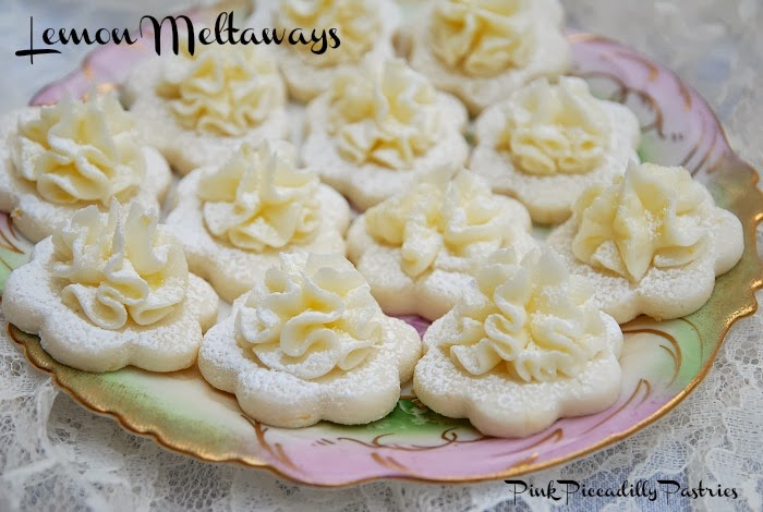 Pink Piccadilly Pastries: Frilly Lemon Meltaway Cookies