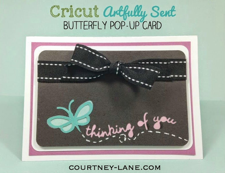 Close To My Heart Artfully SentButterfly Pop-up Card