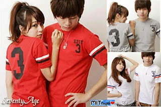Best3 (merah,abu,putih) , baju couple online terbaru