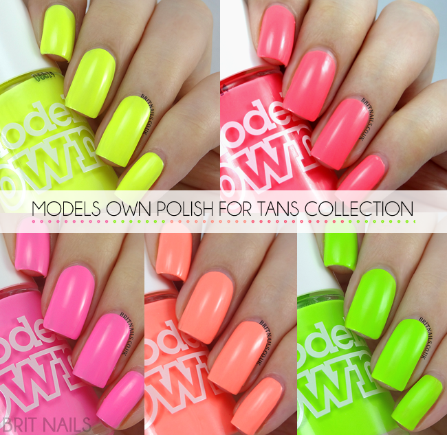 Models Own Polish For Tans Collection Swatches and Review | Brit Nails