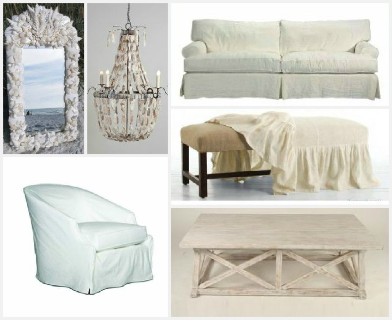 Shabby Chic Coastal furnishings and lighting