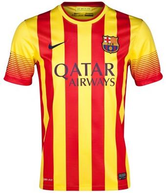 segunda camisa FC Barcelona 2013 2014 senyera