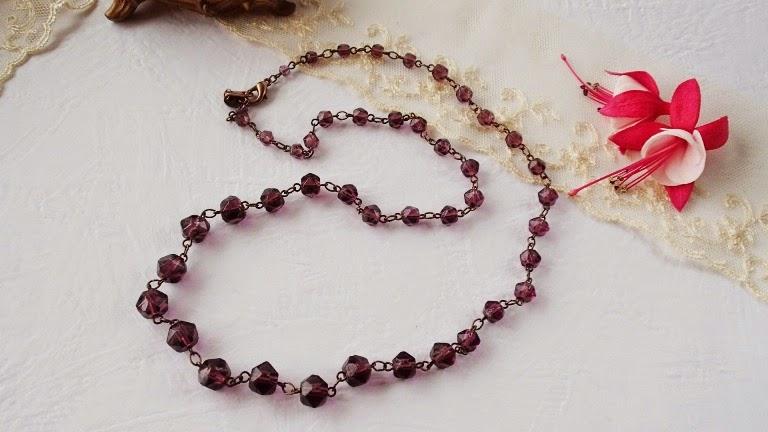 collier halskette atik ancienne perles perlen