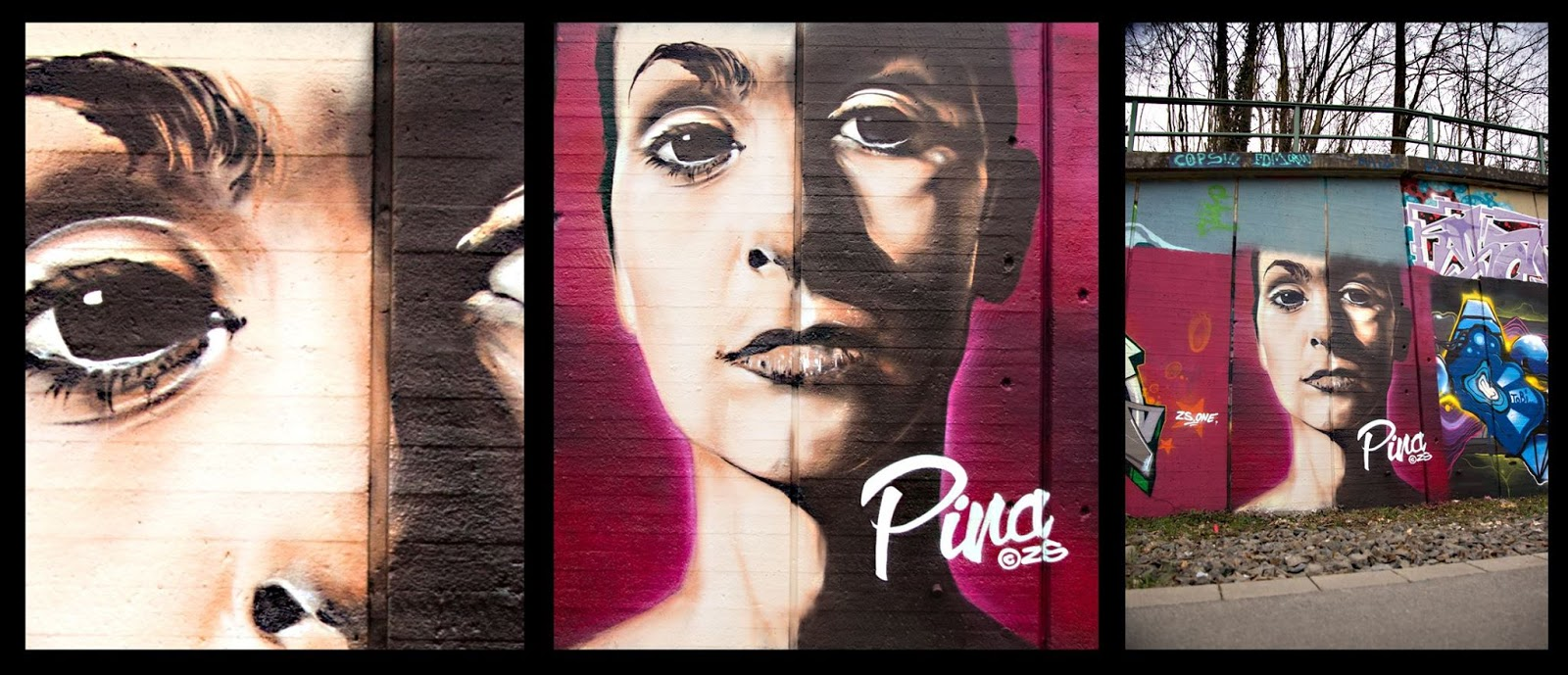Atomlabor Blog StreetArt -Pina Bausch Streetart von ZS an der Hall of Fame in Wuppertal