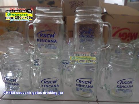 souvenir gelas drinking jar grosir