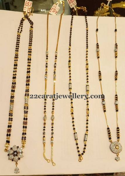 Black Beads Short Sets 5 To 15gms Jewellery Designs