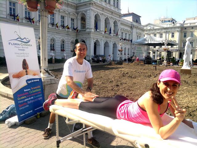 Maseur oficial la Maraton Arad 2015. O nouă participare, un nou rol, acelaşi eveniment frumos de alergare. Florin Chindea, Diana Amza, Supermamici Alergătoare