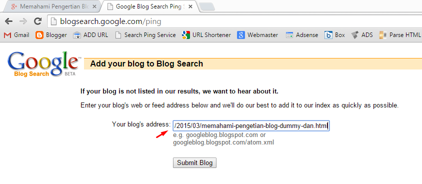 Blog Search Google Ping