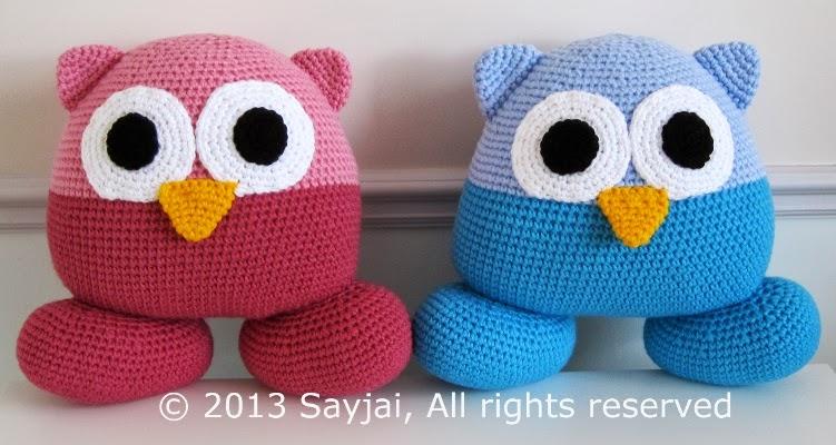 Free Amigurumi Pillow Patterns : Pillow Pals - Sayjai Amigurumi Crochet Patterns ~ K and J ...