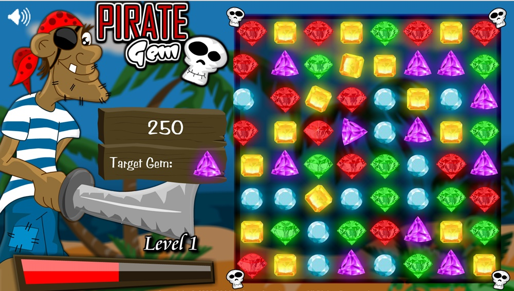 Pirate Gem Play Free Online Fun Game