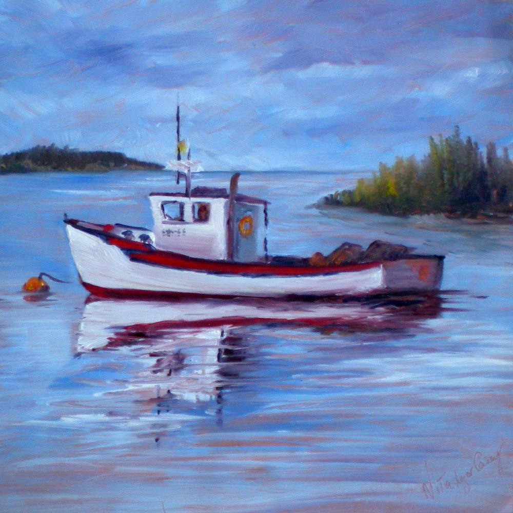 Nita l ger casey march 2011 for Fishing boat painting