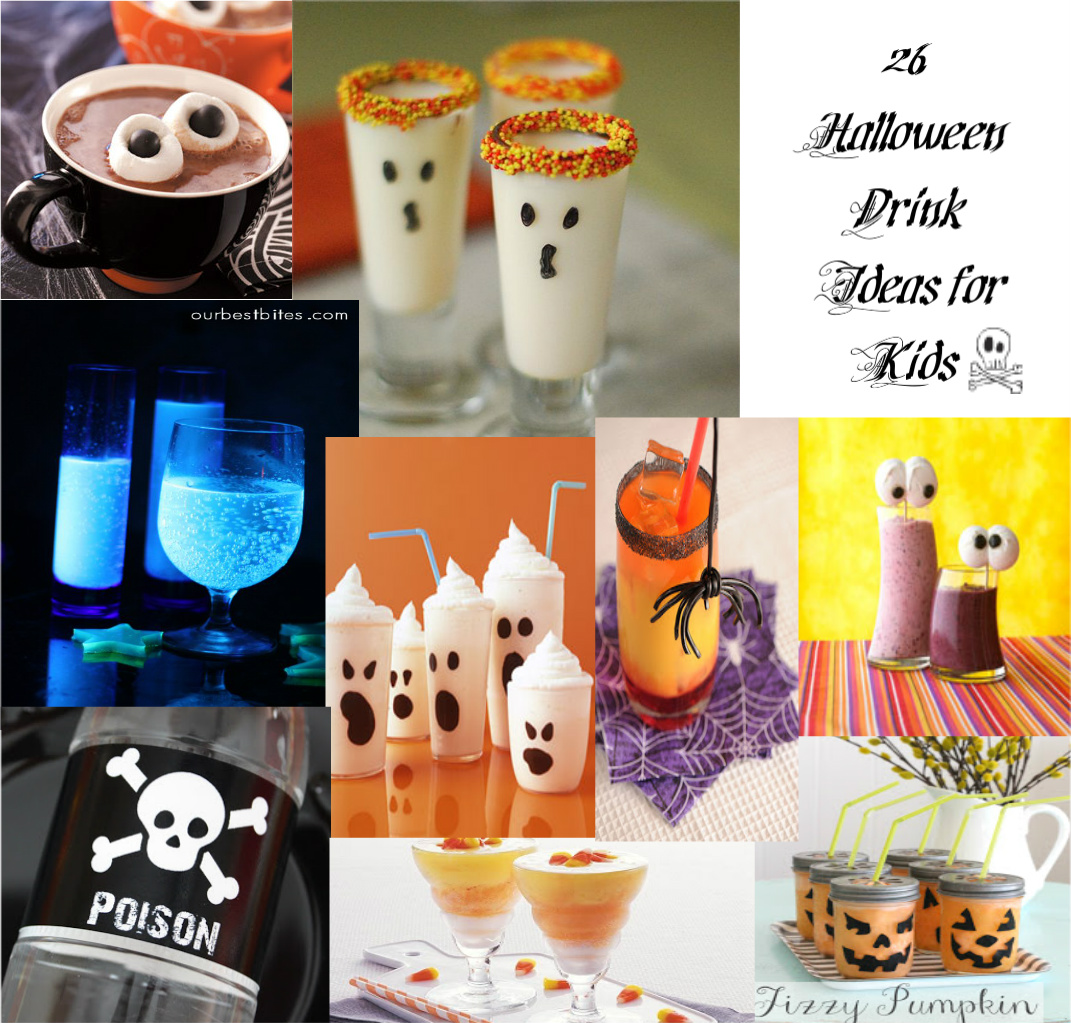 here are some kids friendly halloween drink recipes