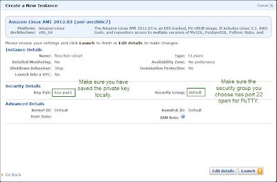 EC2 Linux Instance Details