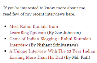 Rahul giving backlinks to interviewer