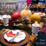 Budget Decor: Fall Centerpiece and Tablescape #decor #Fall #Autumn #tablescape #centerpiece