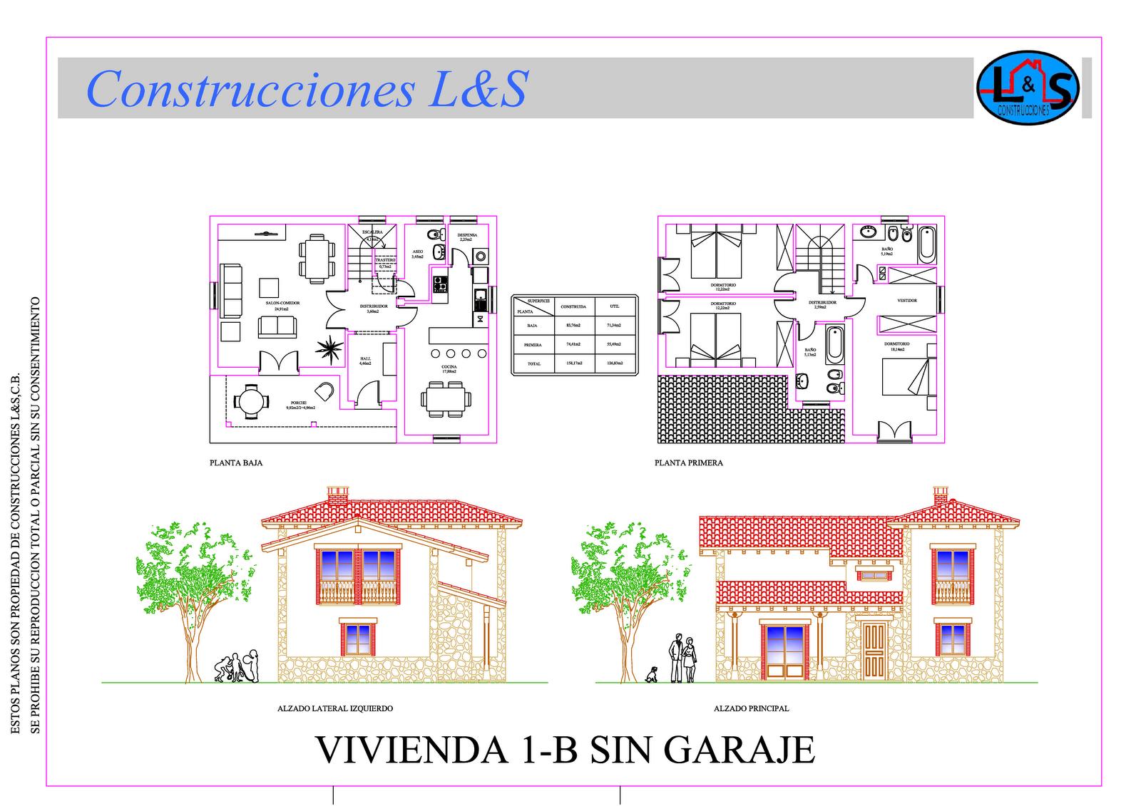 Construcciones l s c b modelos de viviendas llave en mano for Modelos de viviendas