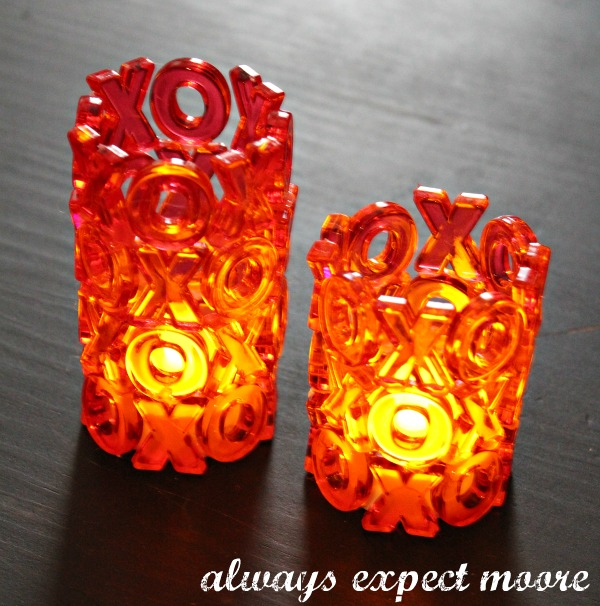 valentines day xoxo tea lights