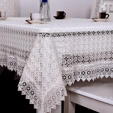 Ganchillo elegante manteles imagui - Manteles mesa rectangular ...