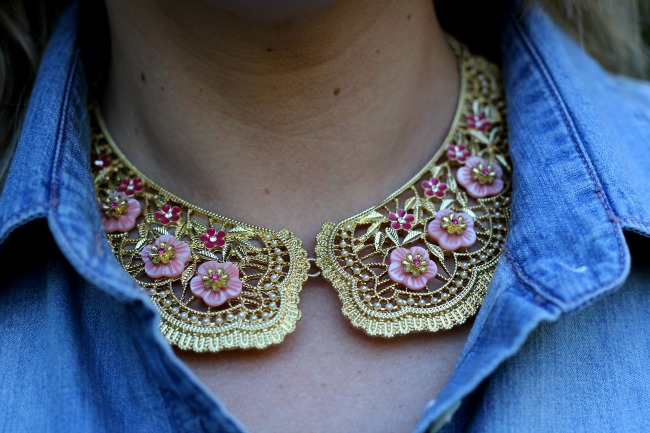 The Bright Side Shirt Collar Necklace - Carolee