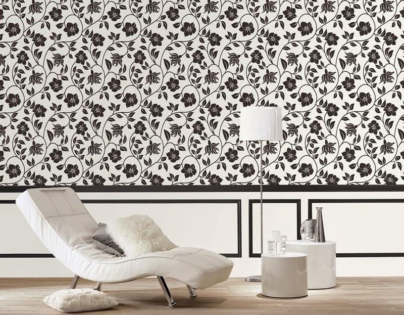 Marta decoycina decorar casas en blanco y negro for Papel pintado blanco