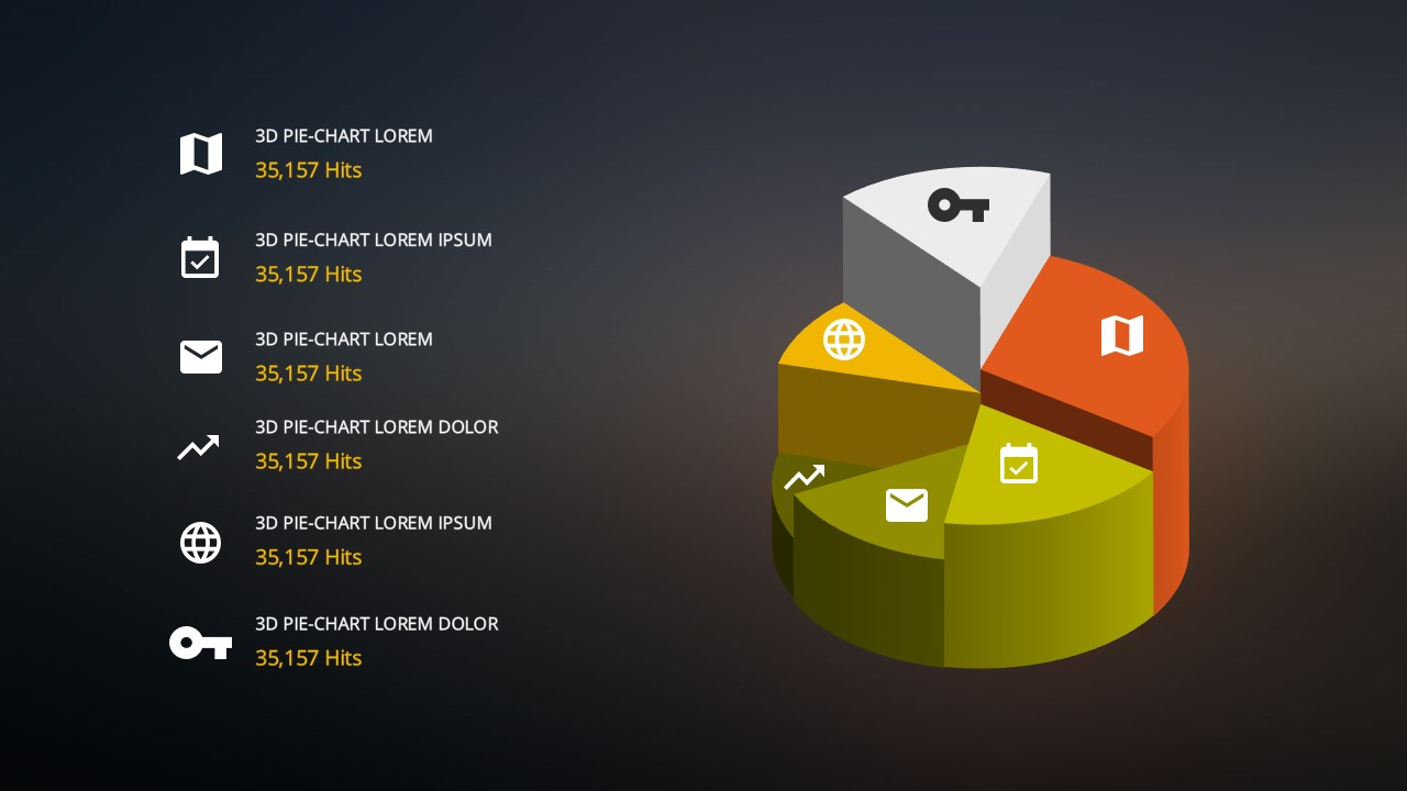 Free powerpoint templates with 3d pie chart design elements 3d pie chart2 pronofoot35fo Images