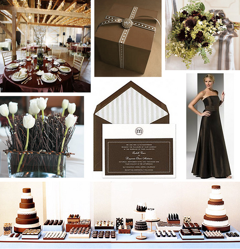 THE LOOK Sweet Like Chocolate Browns Wedding Theme brown wedding ideas