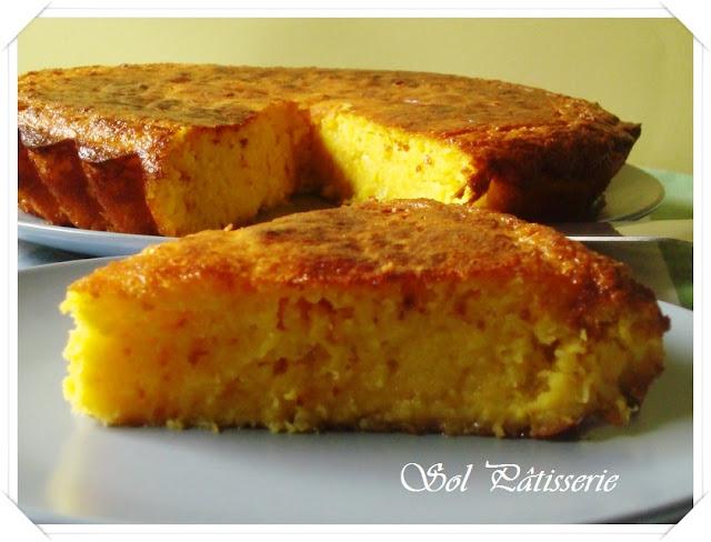 Gâteau crémeux au maïs et à la noix de coco