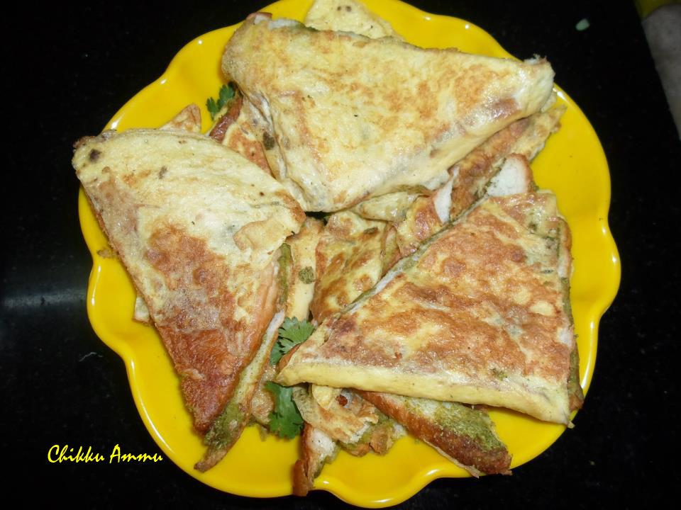Chikkus kitchen spicy green mint chutney egg bread sandwich spicy green mint chutney egg bread sandwich forumfinder Choice Image