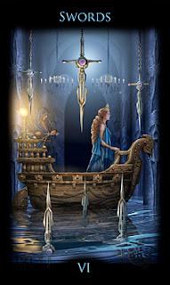 Six of Swords Legacy of the Divine tarot