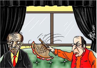 Cartoon on Shujat Sattar