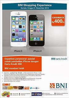 iPhone Cashback Rp 400 Ribu Dengan Kartu Kredit BNI